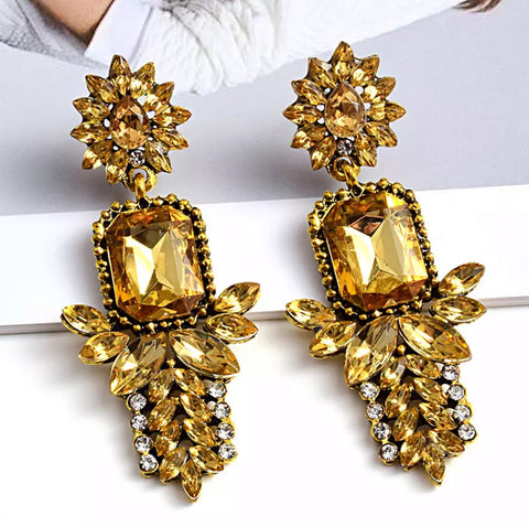 Diana Crystal Earrings (6549283536931)