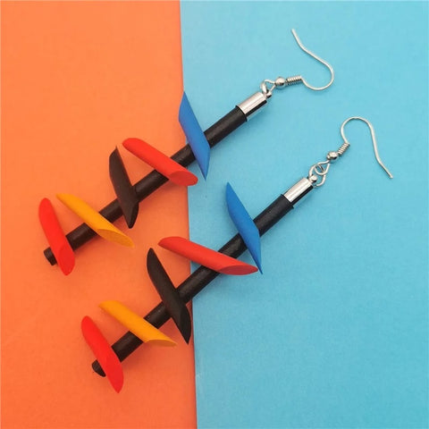 Tory Rubber Earrings (6538637869091)