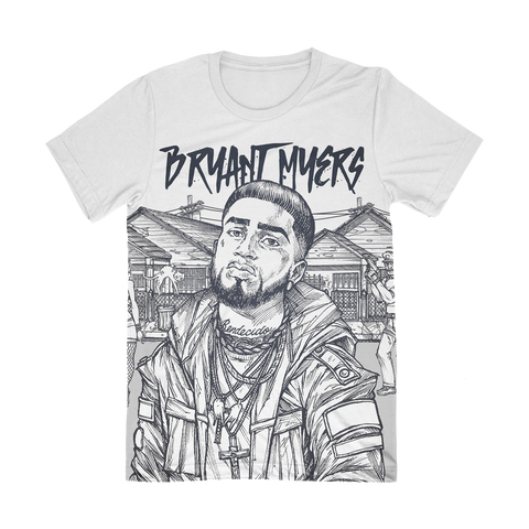 Bryant Myers All Over White Shirt