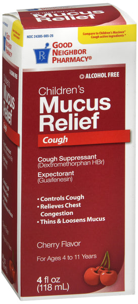 Cough and Mucus Relief for Kids' Cherry Flavored (Generic Robitussin DM)