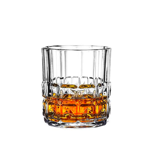 Verre à Whisky <br> Large Motif Carré x6