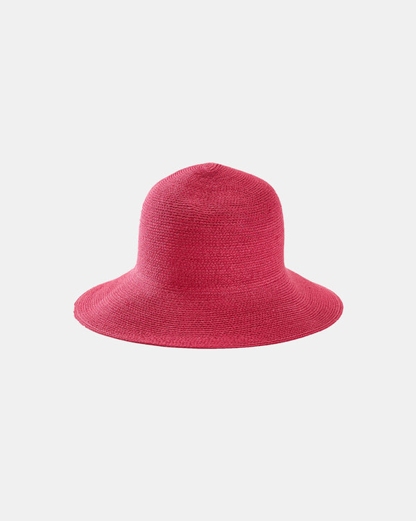 Straw Bucket Hat - Pink-Grevi-Mercantile Portland