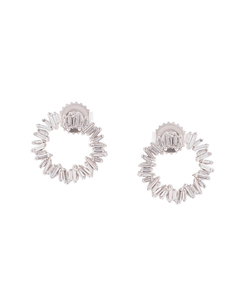 18K White Gold Small Spiral Hoop Earrings-Suzanne Kalan-Mercantile Portland