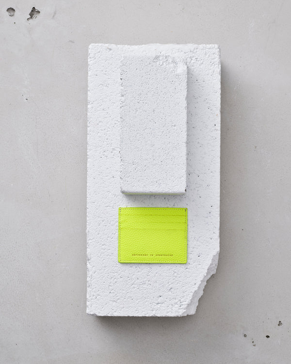 Card Wallet - Neon Yellow-Ampersand as Apostrophe-Mercantile Portland