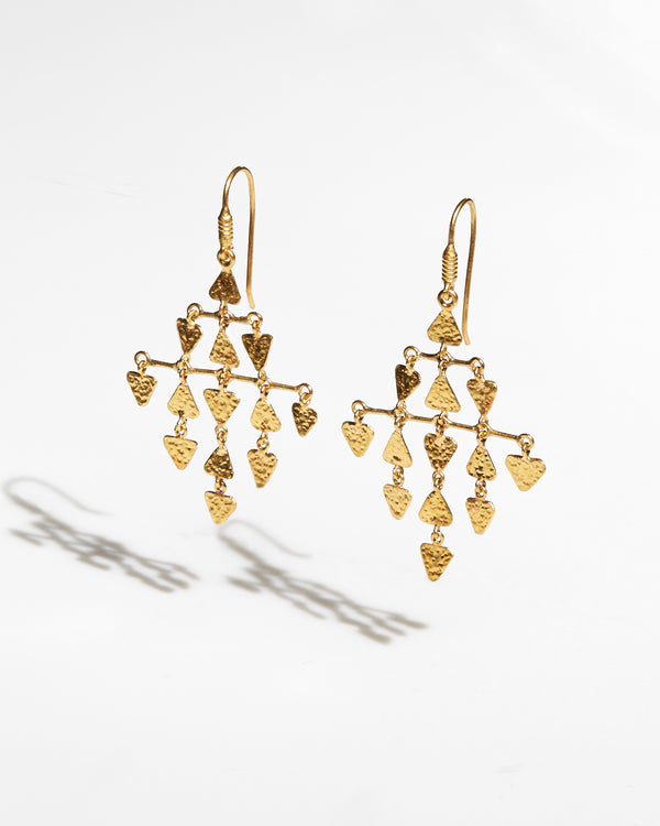 Gold Chandelier Triangle Earrings-Ara Collection-Mercantile Portland