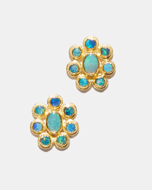 Australian Opal Daisy Earring-Ara Collection-Mercantile Portland
