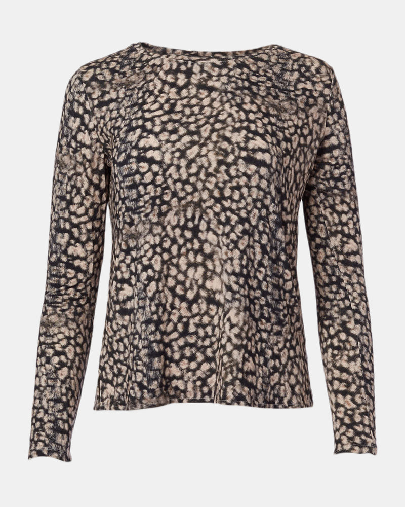 Soft Touch Animal Print Boatneck-Majestic Filatures-Mercantile Portland