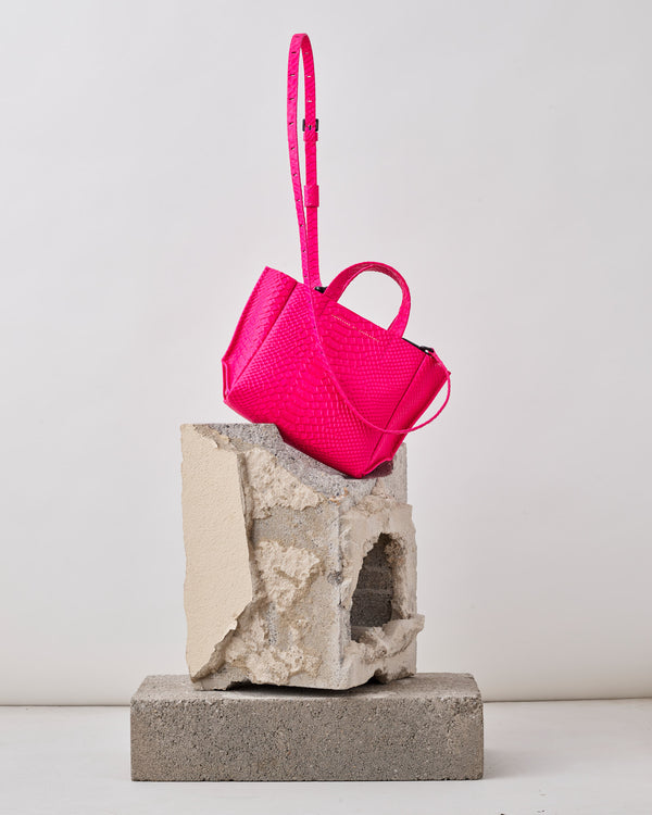 Micro Tote Python - Pink-Ampersand as Apostrophe-Mercantile Portland