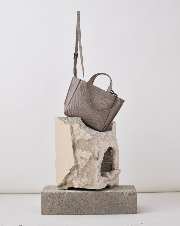 Micro Tote Python - Taupe-Ampersand as Apostrophe-Mercantile Portland