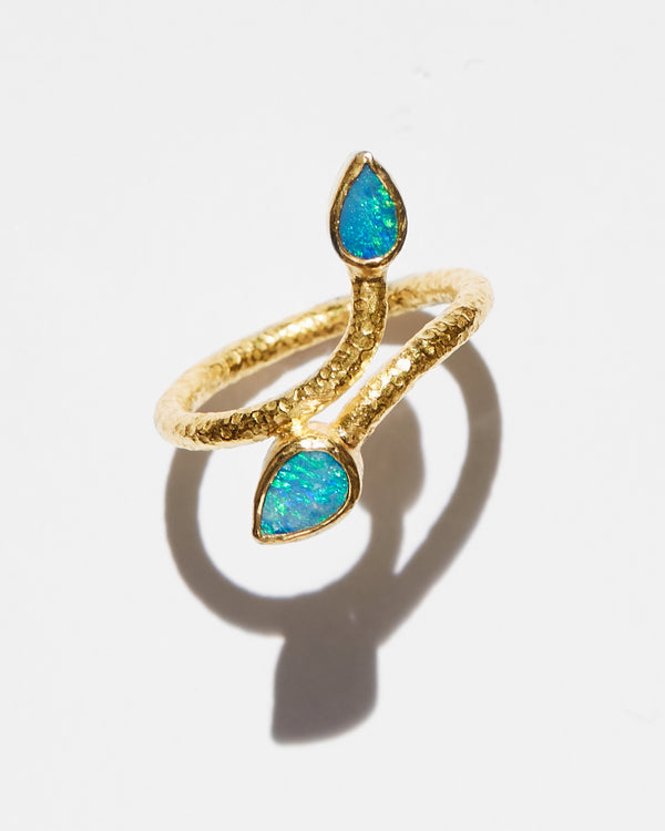Australian Opal Leaf Ring-Ara Collection-Mercantile Portland