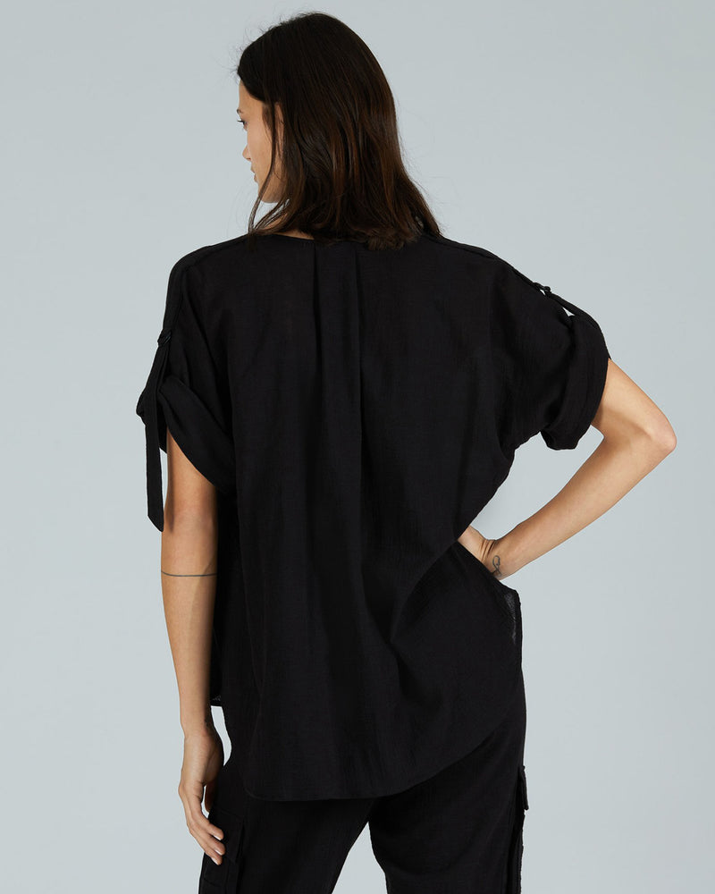 Cotton Gauze Rolled Sleeve Top-ATM-Mercantile Portland
