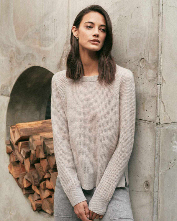 Cashmere Waffle Knit Pullover