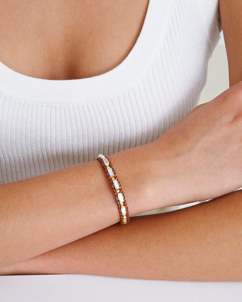 Crystal Single Wrap Bracelet
