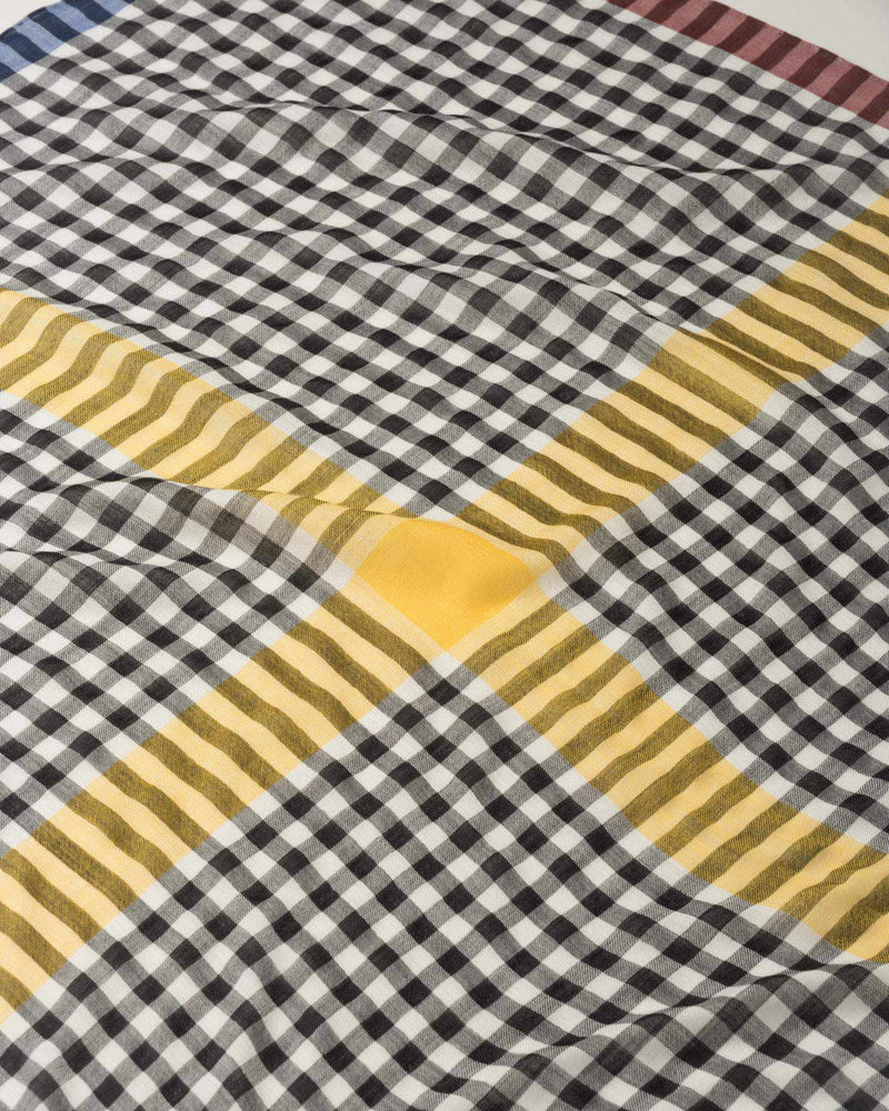 Gingham Cross Scarf
