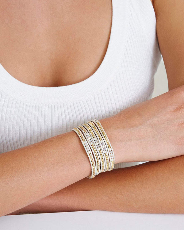 Gold Color-Block Wrap Bracelet