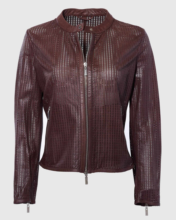 Laser Cut Leather Jacket-Gimos-Mercantile Portland