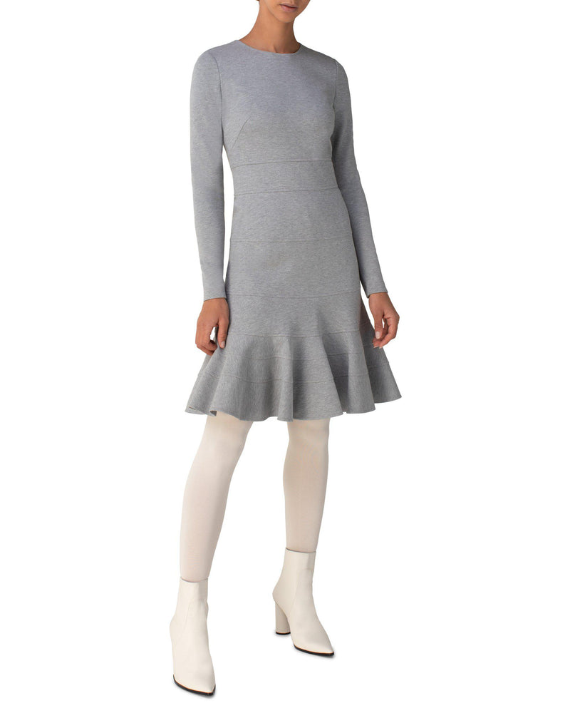 Long Sleeve Flounce Hem Dress-Akris Punto-Mercantile Portland