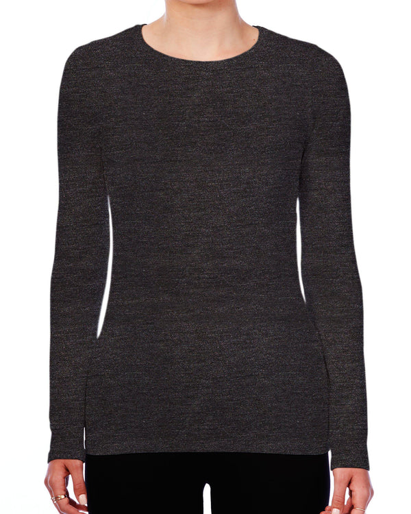 Luxury Soft Touch Crew Neck Long-Sleeve T-Shirt-Majestic Filatures-Mercantile Portland