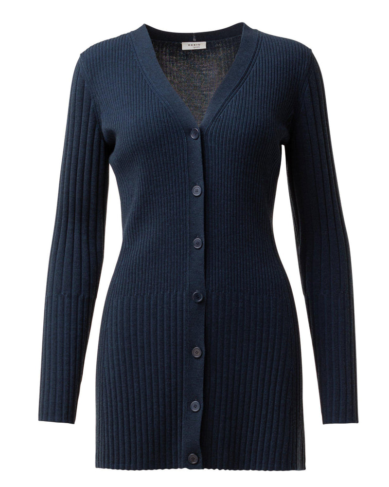 Merino Wool Cardigan-Akris Punto-Merc Fashion