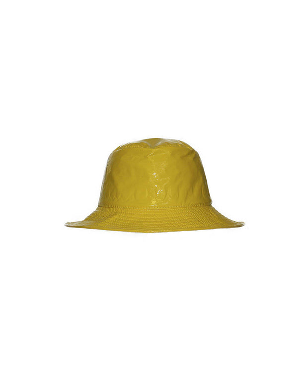 Patent Leather Bucket Hat-Grevi-Merc Fashion