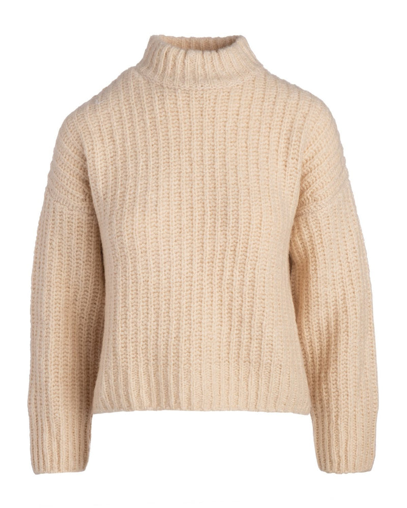 Ribbed Chunky Mockneck Sweater