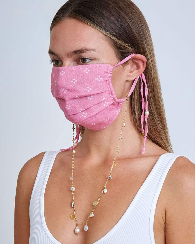 Rose Bloom Polka Dot Face Mask