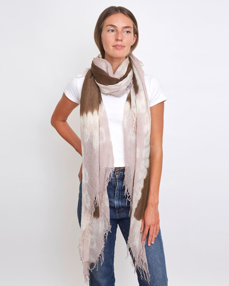 Shitake and Etherea Cashmere And Silk Scarf