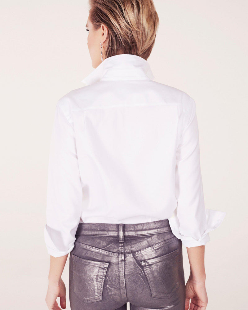 Signature White Out Shaped Collar Shirt-Sarah Alexandra-Merc Fashion
