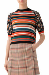 Stripe & Dot Wool Sweater-Akris Punto-Merc Fashion