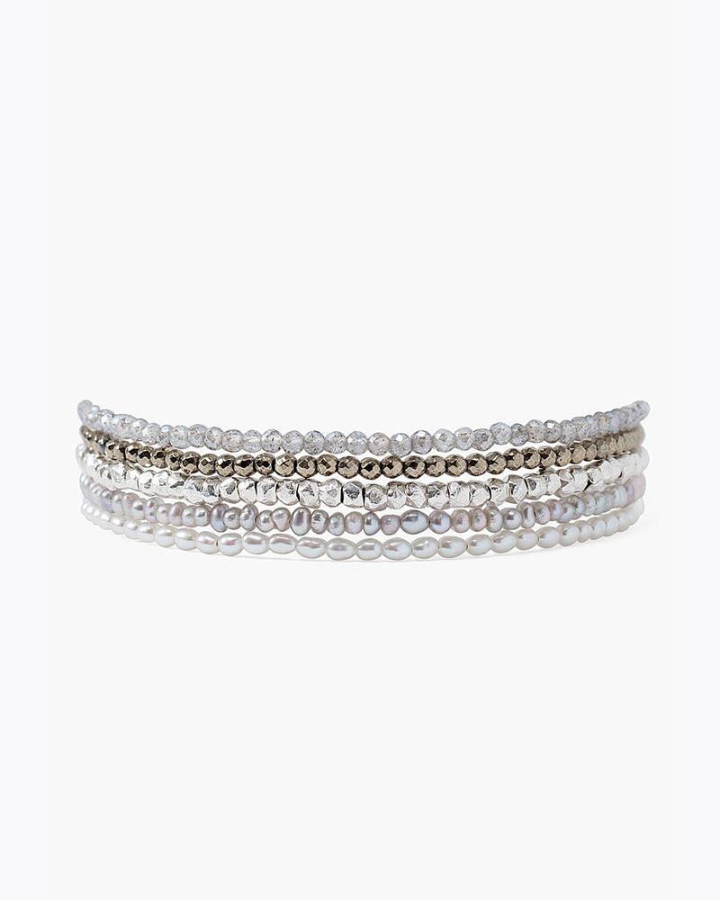 White Mix Pearl Naked Wrap Bracelet-Chan Luu-Merc Fashion