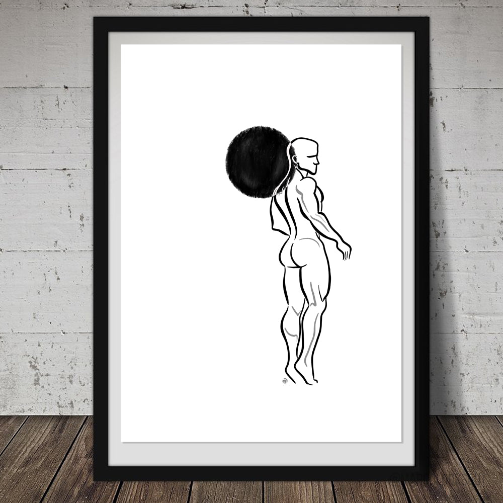 """Hope"" Male Nude Print"