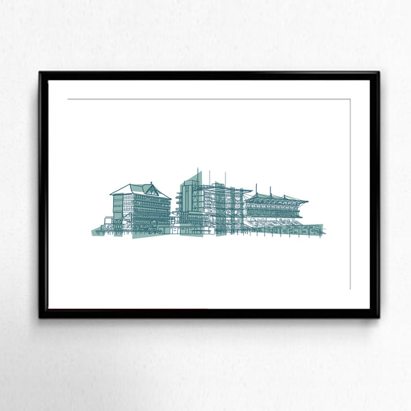 York Racecourse Illustration by MarcoLooks