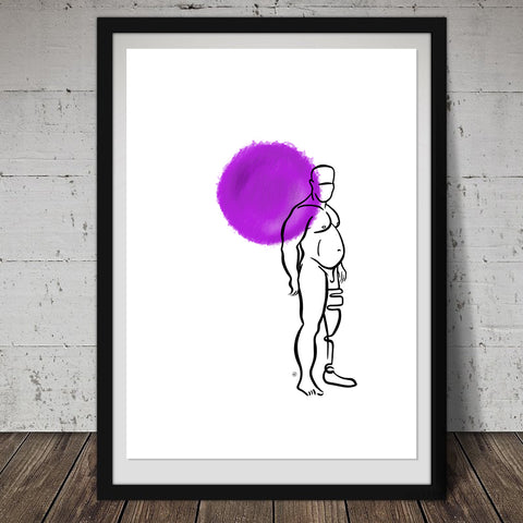 """Spirit"" Male Nude Print"