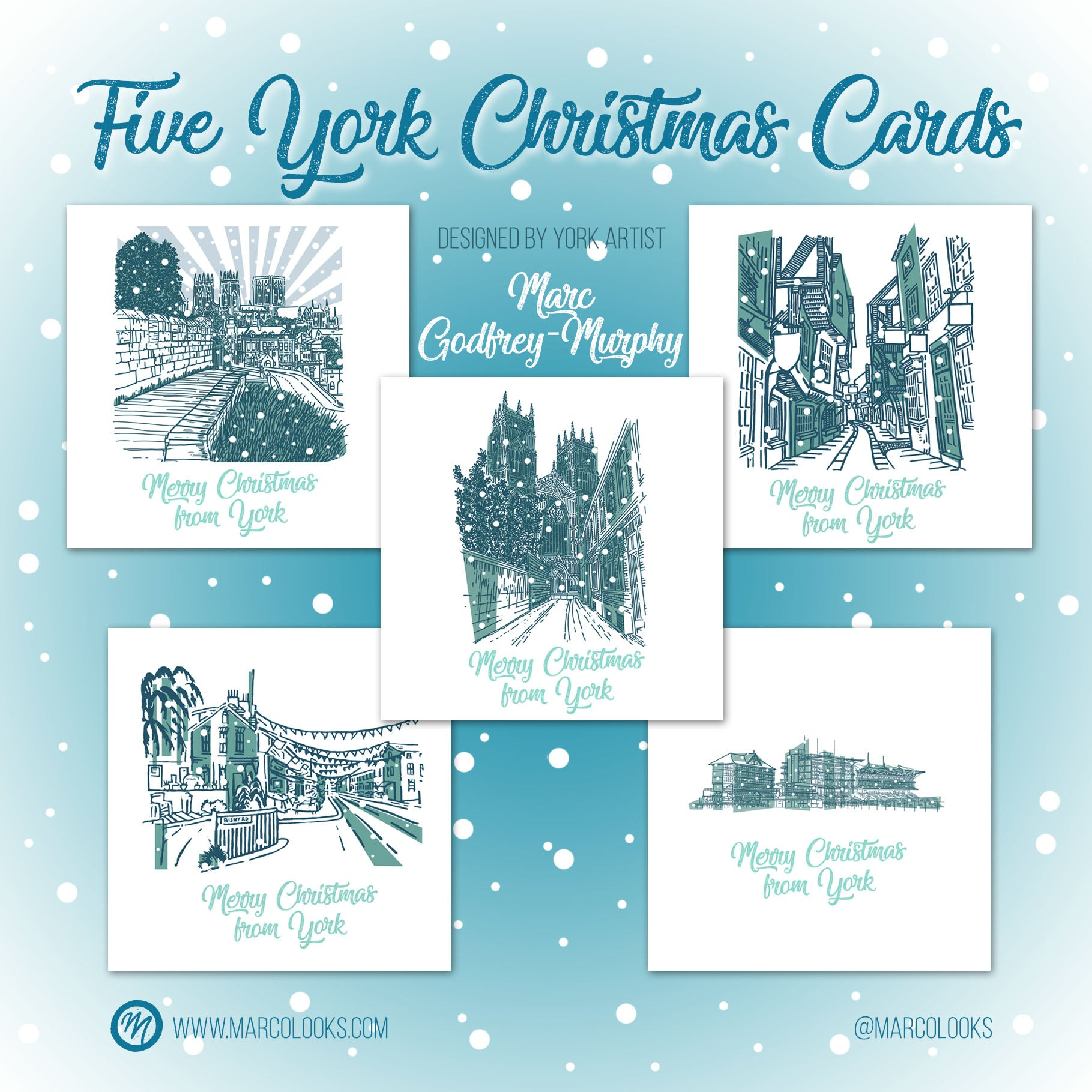York Christmas cards by MarcoLooks