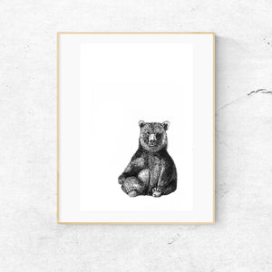 Bear Illustration Print
