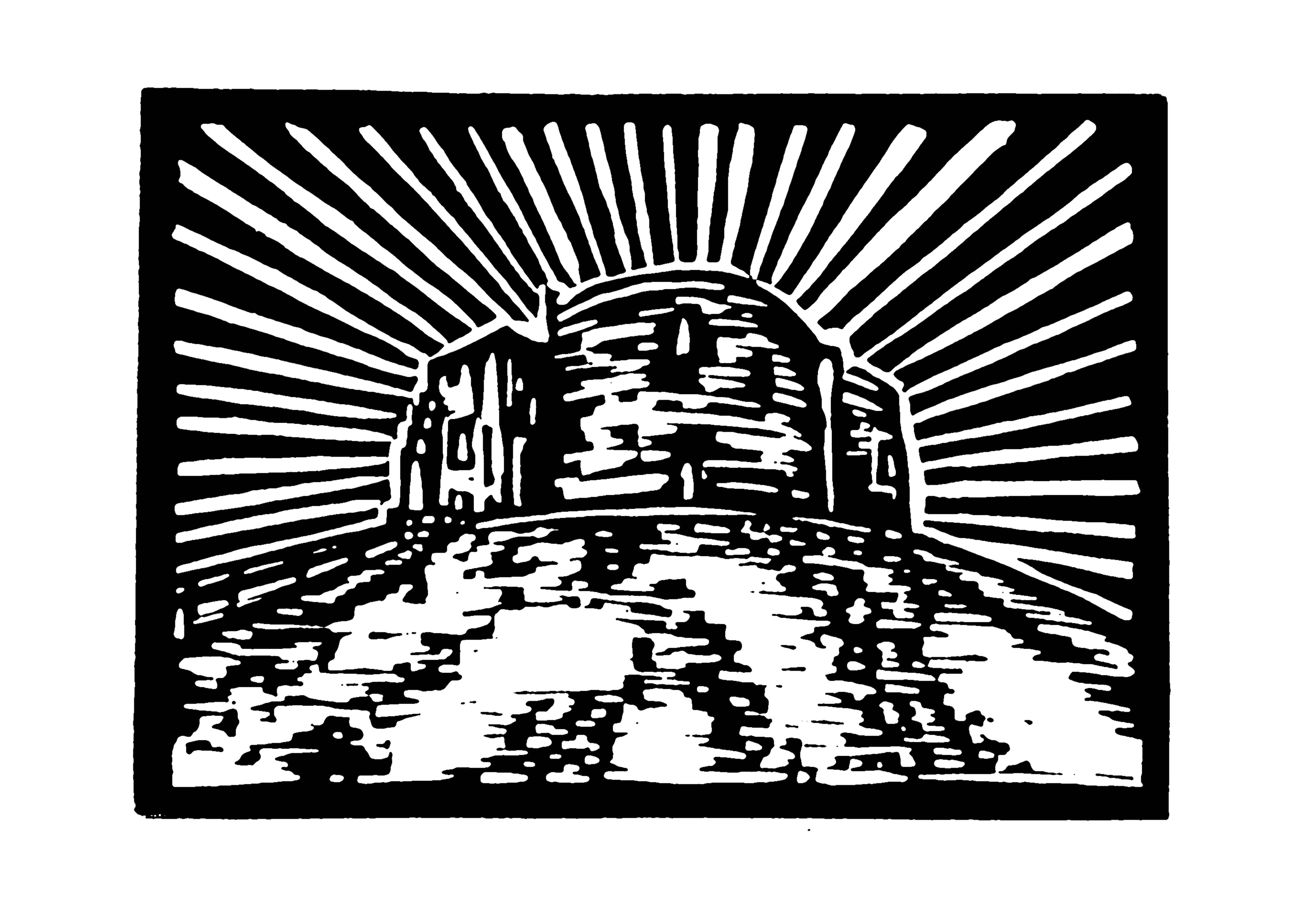 Clifford's Tower, York, Linocut Print (Black and White)
