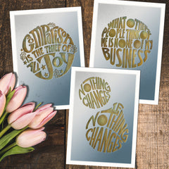 MarcoLooks Mini Print collection of Affirmation and Mood Lifting Quotes