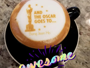 Latte art for the movie, Parasite