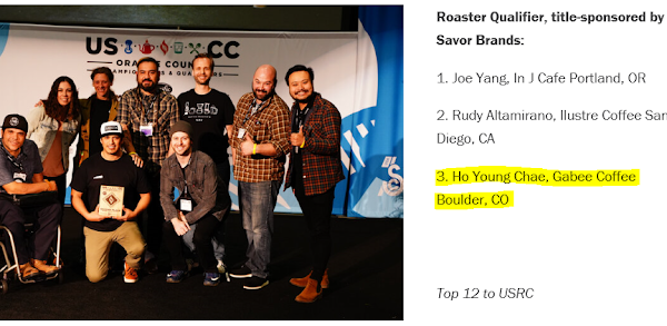 3rd place at USCC Roaster Qualifier Competition