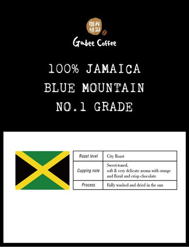 100% Jamaica Blue Mountain No.1 Grade