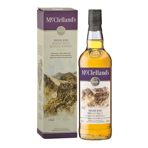 McClelland's Highland Single Malt Scotch Whisky 750ml