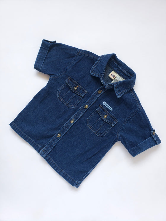 Faded Glory Denim Button-Up Shirt | 5