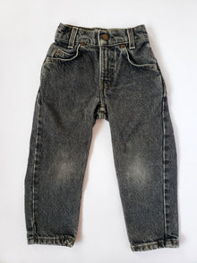 Vintage Little Levi's Orange Tab Black Denim 550 Jeans | 3T