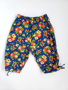 Vintage GAP Floral Pants and Matching Hat | 12-18M