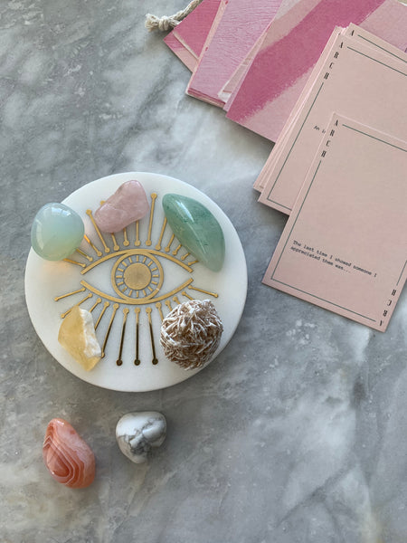 crystals and journal cards