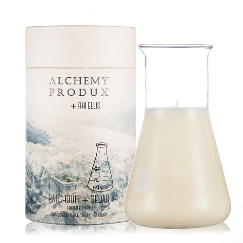230gram Conical Flask Candle - Patchouli + Cedar