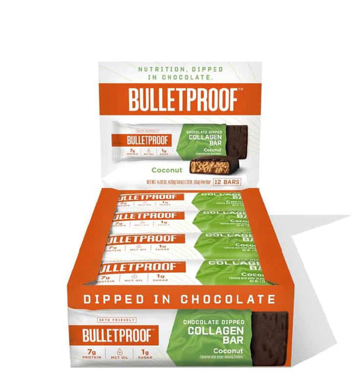 Bulletproof Chocolate Dipped Collagen Bars Coconut 1
