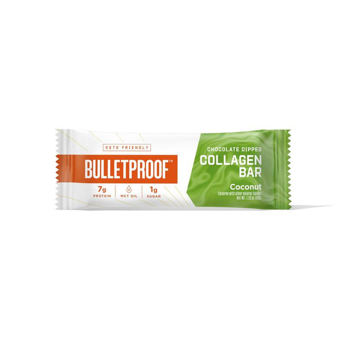 Bulletproof Chocolate Dipped Collagen Bars Coconut 2