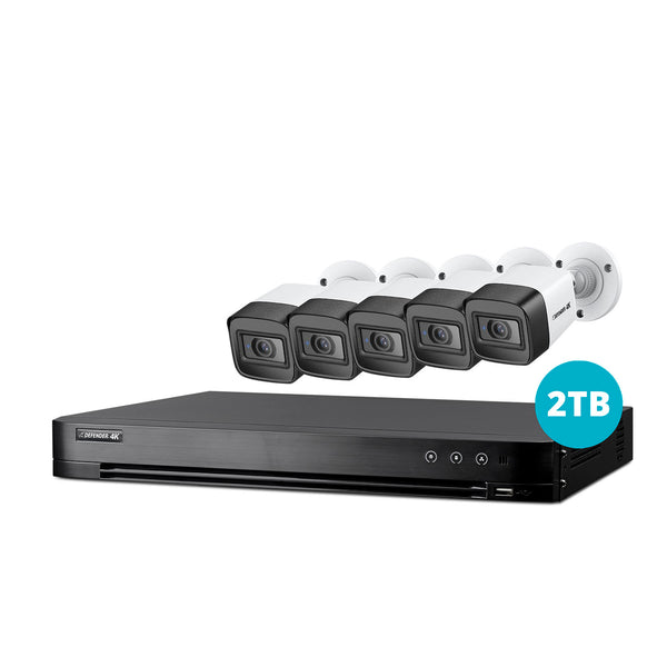 4K Ultra HD 2TB Security System with 5 Cameras