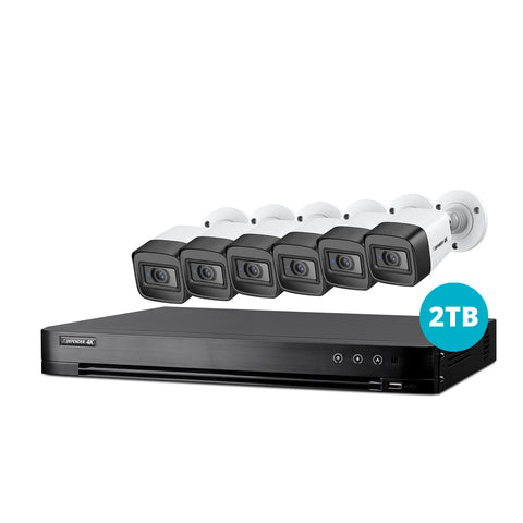 4K Ultra HD 2TB Security System with 6 Cameras